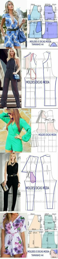 321166593 The best DIY projects & DIY ideas and tutorials: sewing, paper craft, DIY.  DIY Women's Clothing : Sewing Pattern/ jumpsuits and Rompers -Read