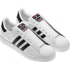 RUN DMC × ADIDAS ORIGINALS SUPERSTAR 80S WHITE/BLACK/LIGHT SCARLET #sneaker