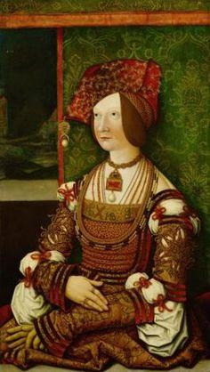 Bernhard Strigel /Bianca Maria Sforza/1505-1510/olio su tavola, cm 76x43,5/Kunsthistoriches Museum Gemaldegalerie