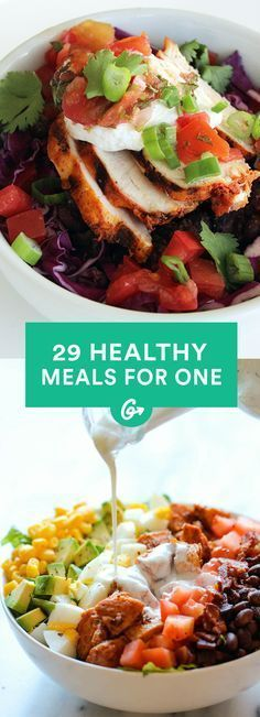Cooking for One: 25 Insanely Easy, Healthy Meals You Can Make in Minutes - Brunch-Lunch-Dinner - Gesundes Essen Healthy Meals For One, Healthy Drinks, Healthy Cooking, Healthy Snacks, Healthy Eating, Cooking Recipes, Cooking For One, Healthy College Meals, Easy Meals For One