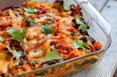 Roasted Vegetable Enchiladas #vegetarian