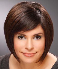 mouth length bob cut with sleek