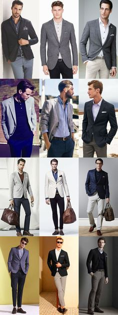 Men's Business-Casual Outfit Inspiration Lookbook - Blazers Mixed With Oxford Shirts, Chinos and Polos