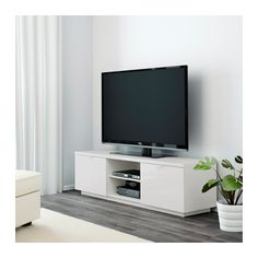 BRIMNES TV bench IKEA This TV-bench has large drawers that make it easy to keep remote controls, game controllers and other TV accessories organised. Brimnes, Ikea Liatorp, Ikea Tv Stand, Tv Bank, Plastic Shelves, Painted Drawers, Large Drawers, Tv Cabinets, Small Apartments