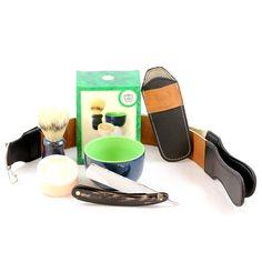 StraightRazors.com - BEST SELLER Buffalo Horn Shave Set, $89.99 (http://www.straightrazors.com/best-seller-buffalo-horn-shave-set/)
