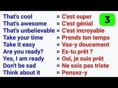 Les phrases les plus utilisées en anglais ● The Most used phrases in English ✪ #3 - YouTube Basic French Words, French Phrases, How To Speak French, Learn French, French Language Lessons, Spanish Language Learning, French Lessons, English Lessons, French Expressions