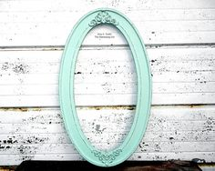 Mint Oval Frame  10x20 Long Skinny Ornate by TheDistressingGirl, $55.00