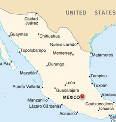 This is a map of mexico cities.