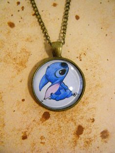 Ohana+Stitch+Vintage+Style+Cameo+Necklace+by+KawaiiCandyCouture,+£10.00