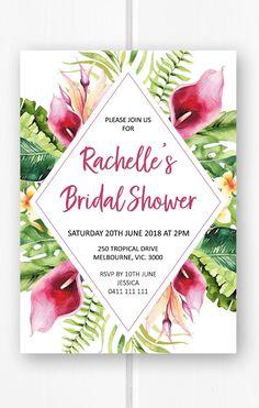 f67b958d8828e Tropical bridal shower invitation printable