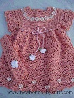 Crochet Baby Dress FREE pattern in ENGLISH by Sweet Nothings Crochet at shyaman...
