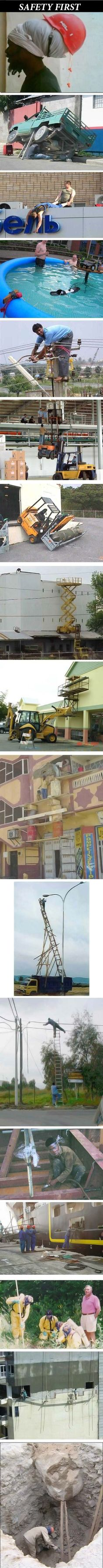 Safety First Complilation, Click the link to view todays funniest pictures!