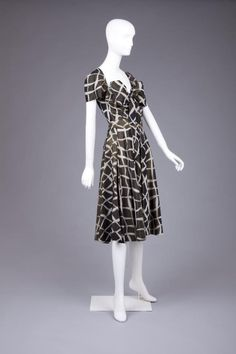 Dress, by Gilbert Adrian, American, 1950s. The Goldstein Museum of Design.