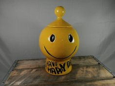 Vintage McCoy Smiley Face Cookie Jar Have a by WesternKyRustic