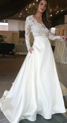 White wedding dress. Brides dream of finding the most suitable wedding day, however for this they need the best bridal gown, with the bridesmaid's outfits complimenting the brides-to-be dress. These are a variety of suggestions on wedding dresses.