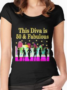 50 AND FABULOUS NYC BIRTHDAY DESIGN Women's Fitted Scoop T-Shirt Dazzle, sparkle and shine with our fabulous 50th birthday Tees and gifts. Save 20% sitewide. Use code GOFETCH20 https://www.redbubble.com/people/jlporiginals/collections/370882-50th-birthday #50yearsold #50thbirthday #50thbirthdaygift #50thbirthdayideas #Happy50th
