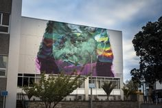 """askewone: """" Kaitiaki, 2016 For Sea Walls: Murals for Oceans, Napier, New Zealand I thought long & hard about a name for this Sea Walls mural in Napier & one word constantly rang true during the. Maori Legends, Contemporary Paintings, Graffiti, Starry Night, Painting, International Art, Art, Contemporary Art, Street Art"""
