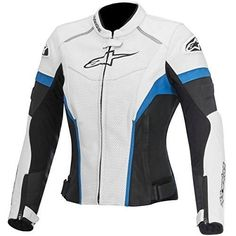 Alpinestars GP Plus R Perforated Women's Street Motorcycle Jackets – Black/White/Blue / 38