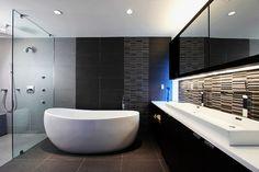 Baño espacioso y limpio.