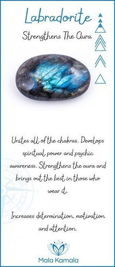 Pin To Save, Tap To Shop The Gem. What is the meaning and crystal and chakra healing properties of labradorite? A stone for strengthening the aura. Mala Kamala Mala Beads - Malas, Mala Beads, Mala Bracelets, Tiny Intentions, Baby Necklaces, Yoga Jewelry, | VIBRANTYOGINI.com