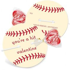 Celebration Card : Creative Homemade Valentine's Day Card Ideas - Simple DIY Baseball Ball Shape Valentine Card With Candy Gift Ideas