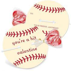 Celebration Card : Creative Homemade Valentine's Day Card Ideas - Simple DIY Baseball Ball Shape Valentine Card With Candy Gift Ideas