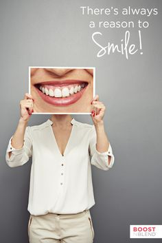 We hope you have many reasons to #smile this weekend! #quote #happiness #boostnblend