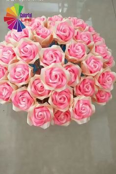 Here's idea to be creative. It's absolutely a prefect gift for your mom! 😊🌹 for mom videos DIY Ribbon Bouquet 💐 Paper Flowers Craft, Flower Crafts, Diy Flowers, Fabric Flowers, Paper Flower Garlands, Tissue Paper Crafts, Paper Flower Backdrop, Diy Paper, Flower Decorations