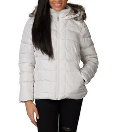 NORTH+FACE+Women's+jacket+Goose+Down+Long+sleeves+Insulation+traps+for+increased+warmth+Removable+faux+fur+trim+on+hood+Zip+closure+Internal+media+pocket+with+media+loop