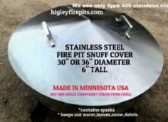 Stainless Steel Dome Shaped  Fire Pit  Cover by GarageShopWelding