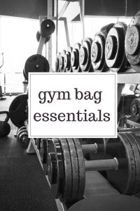 gym bag essentials for winter workouts!
