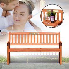 Zur Hochzeit darf es gerne etwas Besonderes sein. Eine personalisierte Holzbank zur Hochzeit ist da doch genau das Richtige, oder? ;) via: www.monsterzeug.de