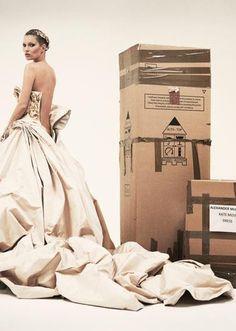 Kate Moss in Alexander McQueen for Vogue UK.