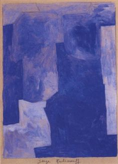 Composition bleue by Serge Poliakoff