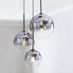 west elm Sculptural Glass Globe Chandelier – Clear ) - All For Decoration Modern Pendant Light, Glass Pendant Light, Pendant Light Fixtures, Pendant Lamps, Globe Pendant, Ceiling Pendant, Round Pendant Light, Sphere Light, Lamp Light