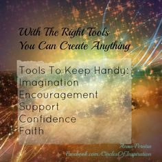 The right tools are all we need <3 Anna