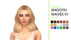 SMOOTH WAVES HAIRS - GREENLLAMAS So I finally got round to releasing this hair, and guess what? It's a bob! I really like this hair and the texture but anyway details are as follows: 18 EA swatches 3... Sims 4 Teen, Sims Four, Sims 4 Mm Cc, Sims 4 Toddler, Sims Stories, Sims 4 Gameplay, Maxis, Sims 4 Cc Skin, Sims4 Clothes
