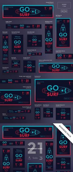 Banners Pack | Go Surf