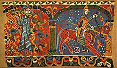 Гобелен из церкви в Балдисхоле. XII век викинги