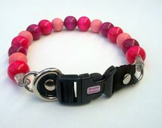 Pink  and Purple Dog Collar Buckle Collars by BeadieBabiez on Etsy