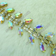 Get #Rhinestone #Chain in various sizes and top ranging from ss6.5 to ss45 .