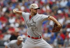 St. Louis Cardinals starting pitcher Adam Wainwright (50) delivers to a Kansas City Royals batter during the first inning of a baseball game at Kauffman Stadium in Kansas City, Mo., Monday, May 27, 2013.