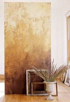 Faux painting DIY Fake Centuries of Wear: Trowel on thin layers of paint to create the timeworn look of aged Venetian plaster in minutes instead of centuries. Textures Murales, Venetian Plaster Walls, Plaster Art, Wall Decor, Wall Art, Paint Decor, Diy Wall, Diy Painting, Faux Painting Walls