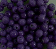 25g Indian glass beads, opaque dark purple, 5mm