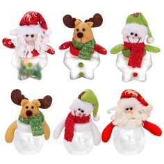 New Hot Mini Santa Clear Plastic Candy Bags Gift Storage Bottle Holder Christmas Decoration enfeites de natal FEN# #>=#>=#>=#>=#> Click on the pin to check out discount price, color, size, shipping, etc. Save and like it!