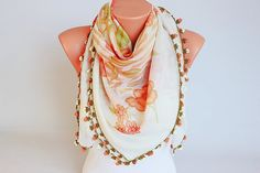 CLEARANCE SALE  Turkish oya scarf Hand crocheted  by SenasShop, $16.90