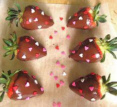 valentine's day - morango com chocolate