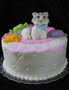 cat cake Monkey Cakes, Cat Cakes, Cupcake Ideas, Cupcake Toppers, Cupcake Cakes, Food Pics, Food Pictures, Gorgeous Cakes, Amazing Cakes