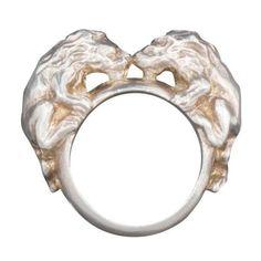 Twin lions ring by ruiandaguri on Etsy, $100.00