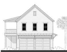 18383 Garage House Plan Design from Allison Ramsey Architects Beach House Plans, Cottage House Plans, Cottage Homes, Garage Apartment Plans, Garage House Plans, Cottage Design, House Design, Detached Garage Designs, Loft Floor Plans
